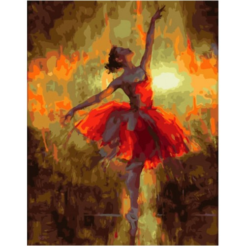 Балерина в червено